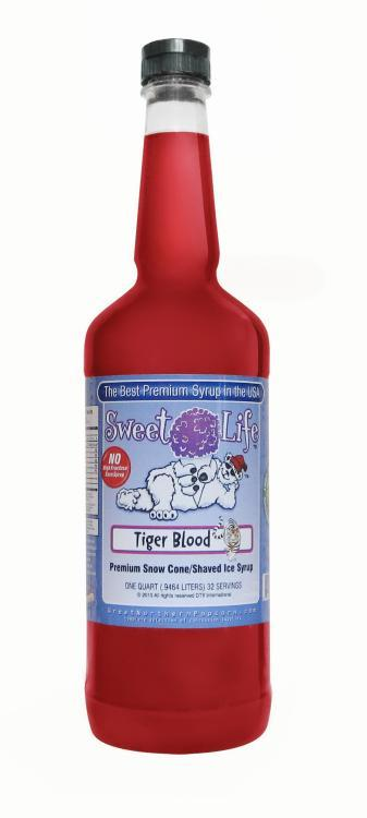 O.biz Sweet Life Premium 1-quart Tiger Blood Snow Cone/ Shaved Ice Syrup at Sears.com