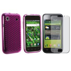 Hot Pink Diamond TPU Case/ Screen Protector for Samsung T959 Vibrant