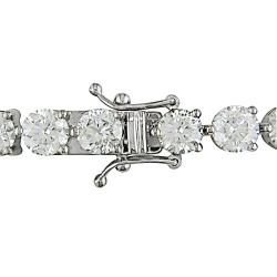 Miadora 18k White Gold 16 5/8ct TDW Diamond Tennis Bracelet (I-J, I1-I2)