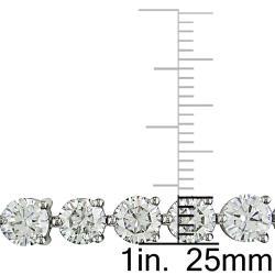 Miadora 18k White Gold 16 5/8ct TDW Diamond Tennis Bracelet (I-J, I1-I2)