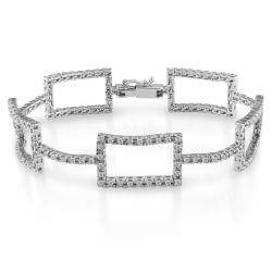 14k White Gold 2ct TDW Diamond Link Bracelet (G-H, SI1-SI2)
