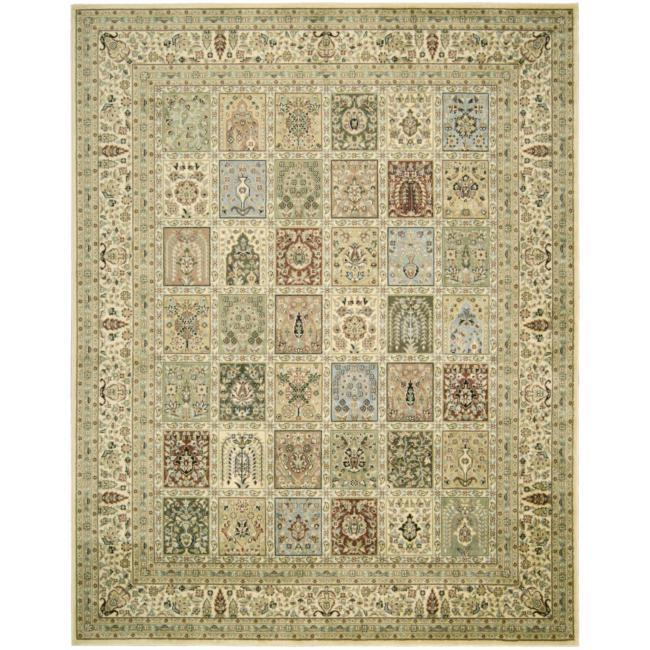 AT HOME by O Regency Beige Geometric Rug (7'3 x 9'3) at mygofer.com