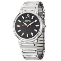 Fruitz Women's 'Sorbet' Stainless Steel Black Dial Quartz Watch
