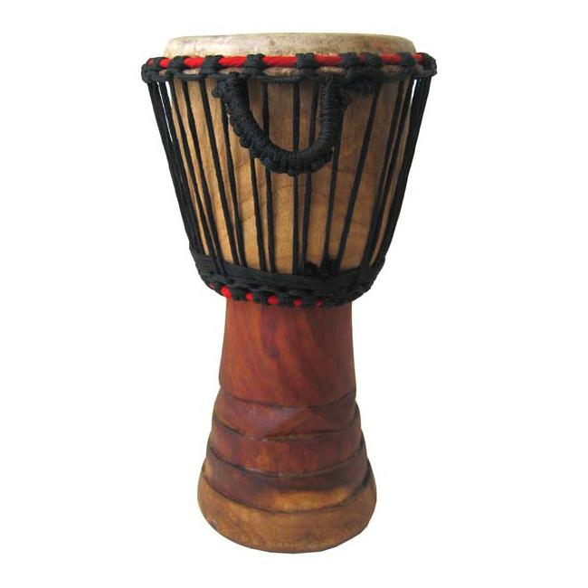 Hand-carved 7x14-inch Small African Djembe Drum (Ghana)
