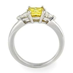 14k White Gold 1 2/5ct TDW Yellow and White Diamond Ring (G-H, SI2)
