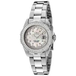 Invicta Women's 'Wildflower' Stainless Steel White Diamond Watch