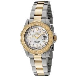 Invicta Women's 'Wildflower' Two-tone White Diamond Watch