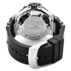 Invicta Men's 'Subaqua/Noma III' Rubber Strap Stainless Steel GMT Watch