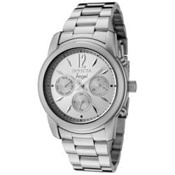 Invicta Women's 'Angel' Silver Dial Stainless Steel Watch