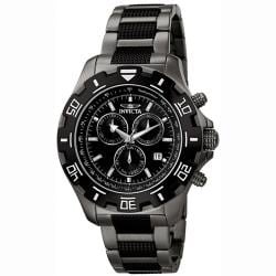 Invicta Men's 'Invicta II' Gunmetal Stainless Steel Chronograph Watch