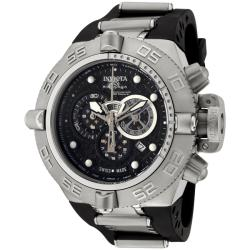 Invicta Men's 'Subaqua' Rubber Strap Stainless Steel Chronograph Watch