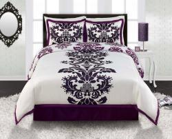 Posh Full/ Queen-size 4-piece Comforter Set