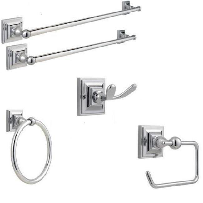 Price Pfister Chrome Set Of 5 Bath Accessories 13386583 Shopping Great Deals