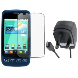 UK Travel Charger/ Screen Protector for LG LS670 Optimus S