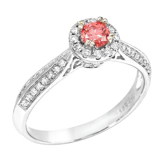 14k White Gold 1/2ct TDW Pink and White Diamond Ring (G-H, SI2)