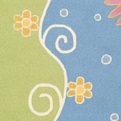 Handmade Children's Lily Pond New Zealand Wool Rug (4' x 6')