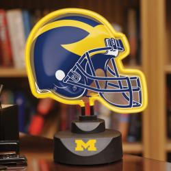 Michigan Wolverines Neon Helmet Lamp