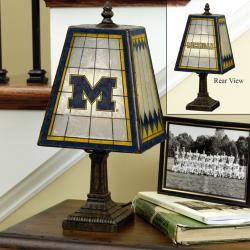 Michigan Wolverines 14-inch Art Glass Lamp