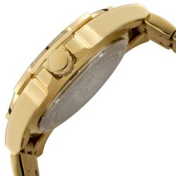 I by Invicta Men's Gold Dial 18k Goldplated Stainless Steel Watch