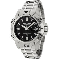I by Invicta Men's Black Dial Stainless Steel Watch