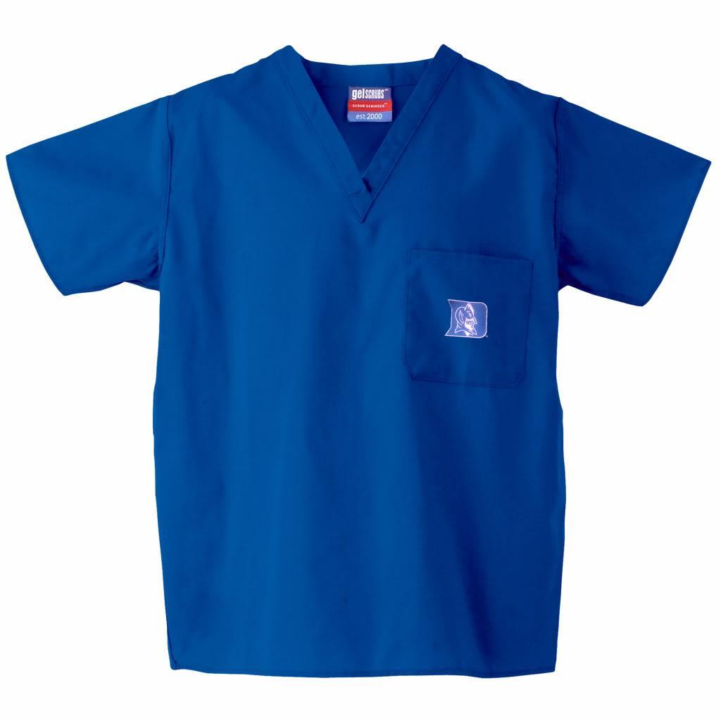 Gelscrub Unisex V-Neck Royal Duke Blue Devils Scrub Top