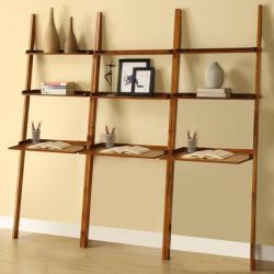 Mahogany 3-piece Leaning Laptop Shelf Set