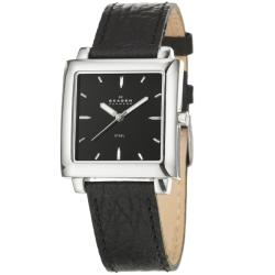 Skagen Men's 'Modern' Stainless Steel and Leather Strap Watch