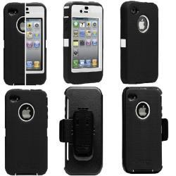 Otterbox Iphone 4 Black/White Defender Case