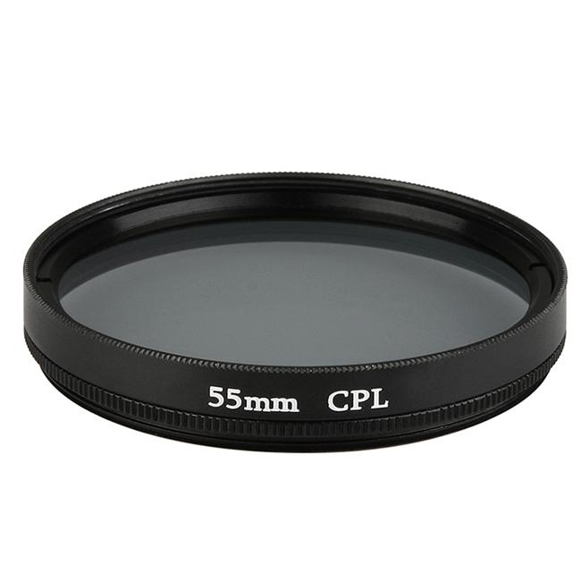 Black 55mm Circular Polarizing Lens Filter