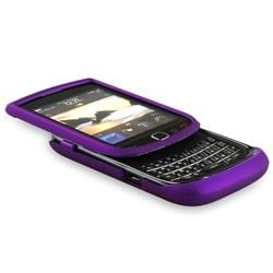 Dark Purple Rubber Coated Case for BlackBerry Torch 9800