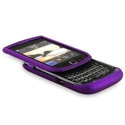 Dark Purple Rubber Coated Case for BlackBerry Torch 9800