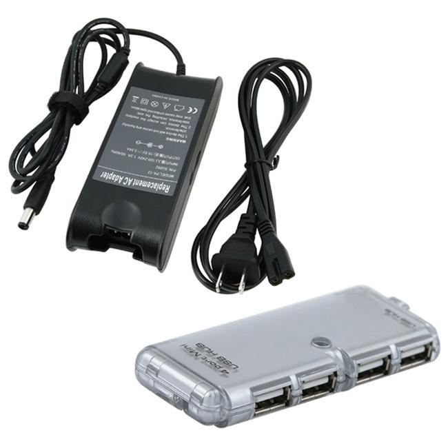 Travel Charger/ 4-port LED USB 2.0 Hub for Dell Inspiron 1501
