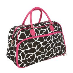 World Traveler 20-inch Giraffe Fashion Carry On Shoulder Travel Tote Bag