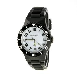 Monument Unisex Black Jelly Interchangeable Fashion Watch