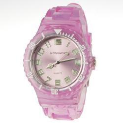 Monument Women's Transparent Jelly Interchangeable Fashion Watch
