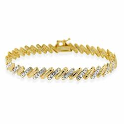 DB Designs 18k Gold over Sterling Silver Diamond Accent San Marco Bracelet