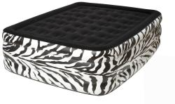 Pure Comfort Zebra Queen Raised Flock Top Air Bed