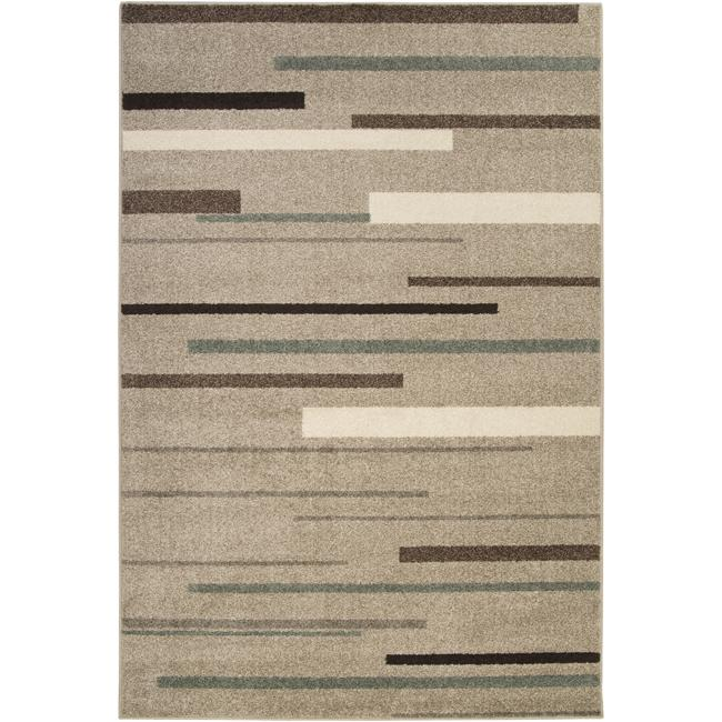 Hand-tufted Lily Contemporary Grey Stripe Rug (5'3 x 7'6)