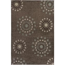 Hand-tufted Brown Contemporary Medallion Rug (5'3 x 7'6)