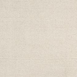 Hand-crafted Solid White Casual Mesa Wool Rug (6' x 9')