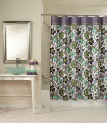 Bohemian Floral Cotton Shower Curtain