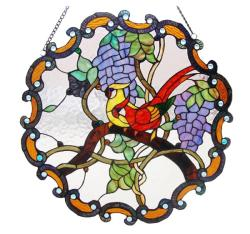Tiffany-style Birds Window Panel