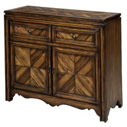 Hand-stained Chestnut Accent Chest