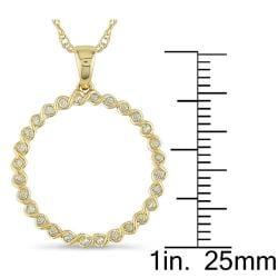 Miadora 10k Yellow Gold 1/6ct TDW Diamond Spiral Wire Necklace (I-J, I2-I3)