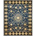 Asian Hand-knotted Majesty Royal Blue Wool Rug (6' Round)