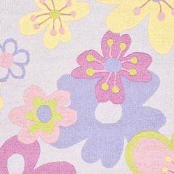 Safavieh Handmade Children's Daisies Violet New Zealand Wool Rug (4' x 6')