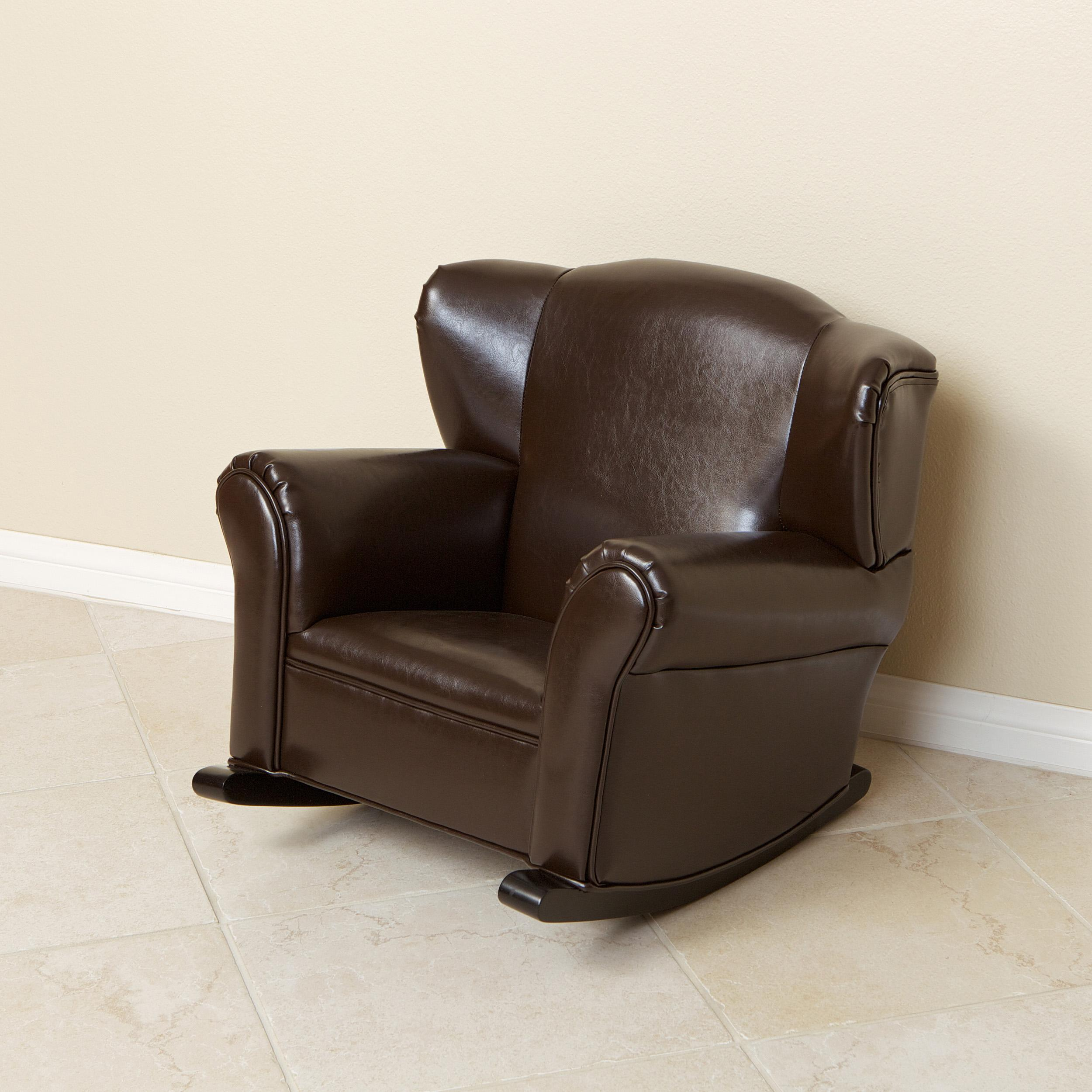 Awesome Leather Rocking Chair Furniture Designs Gallery