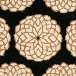 Safavieh Handmade Rodeo Drive Floral Black/ Ivory N.Z. Wool Rug (2' x 3')