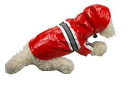 Pet Life Extra Small Lime Red Dog Raincoat