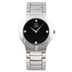 ESQ Women's Verve Stainless Steel Black Dial Diamond Watch